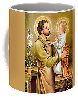 Baby Jesus Talking To Joseph Coffee Mug