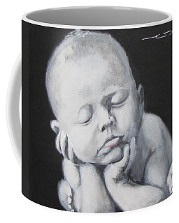 Coffee Mug featuring the painting Baby Nap by Eric Dee
