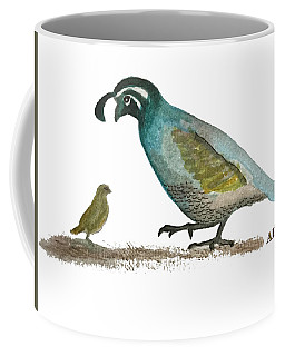 Baby Quail Learns The Rules Coffee Mug