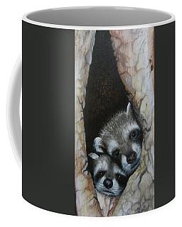 Baby Raccoons Coffee Mug