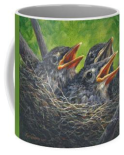 Baby Robins Coffee Mug by Kim Lockman