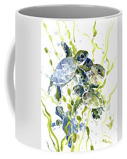Baby Sea Turtles In The Sea Coffee Mug