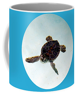 Coffee Mug featuring the photograph Baby Turtle by Francesca Mackenney