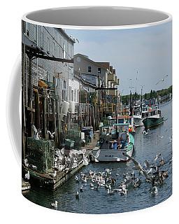 Coffee Mug featuring the photograph Back At The Dock by Lynda Lehmann