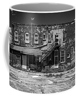 Coffee Mug featuring the photograph Back Lot - Bw by Christopher Holmes
