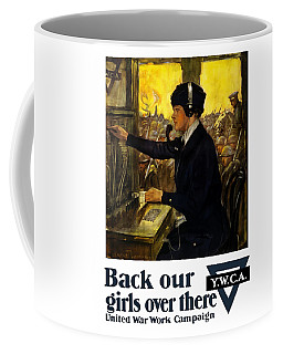 Coffee Mug featuring the painting Back Our Girls Over There by War Is Hell Store