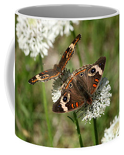 Back To Back Butterflies Coffee Mug by Sheila Brown