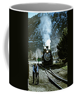 Coffee Mug featuring the photograph Backing Into The Station by Jason Coward