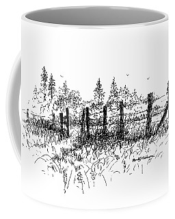 Backlit Fence Coffee Mug