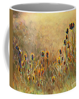 Backlit Thistle Coffee Mug