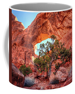 Backside Of Double Arch Coffee Mug