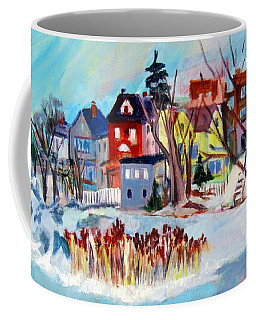 Backside Of Schenectady Stockade In February Coffee Mug