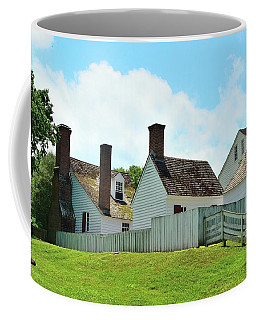 Backyard Colonial Dwellings Coffee Mug