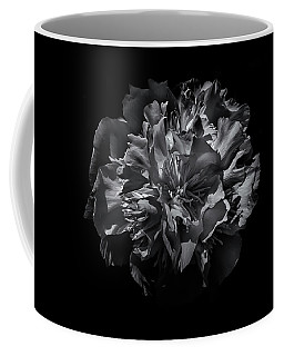 Coffee Mug featuring the photograph Backyard Flowers In Black And White 25 by Brian Carson