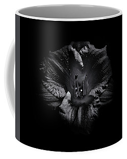 Coffee Mug featuring the photograph Backyard Flowers In Black And White 26 by Brian Carson