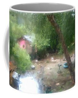 Backyard Rain Coffee Mug