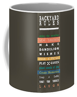 Backyard Rules Coffee Mug