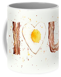 Bacon And Egg I Love You Coffee Mug