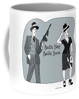 Coffee Mug featuring the digital art Badda Bing Blue by Megan Dirsa-DuBois