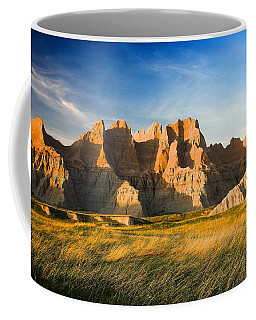 Coffee Mug featuring the photograph Badlands In Late Afternoon by Rikk Flohr