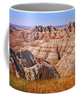 Coffee Mug featuring the photograph Badlands by Mary Jo Allen