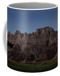 Coffee Mug featuring the photograph Badlands Moon Rising by Jemmy Archer