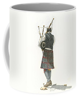Bag Piper On A Maine Beach Coffee Mug