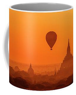 Bagan Pagodas And Hot Air Balloon Coffee Mug