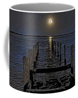 Bahamas Nocturne Woodblock  Coffee Mug