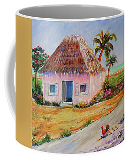 Coffee Mug featuring the painting Bahamian Shack Painting by Patricia Piffath