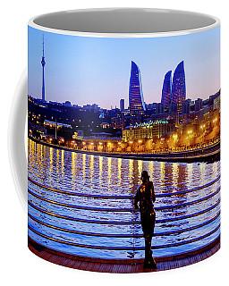 Coffee Mug featuring the photograph Baku Pier by Fabrizio Troiani
