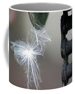Balance, Feather And Iron Chain In The Wind Coffee Mug