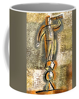 Coffee Mug featuring the painting Balance by Leon Zernitsky