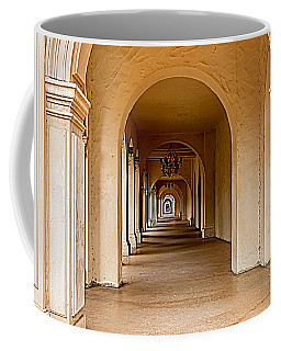 Coffee Mug featuring the photograph Balboa Park Walkway by Bill Gallagher