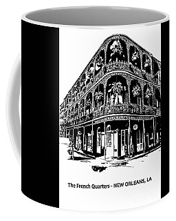 Coffee Mug featuring the photograph Balconies Of New Orleans by PorqueNo Studios