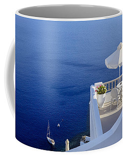Balcony Over The Sea Coffee Mug