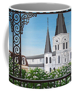 Balcony View Of St Louis Cathedral Coffee Mug