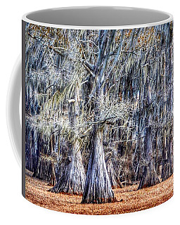 Coffee Mug featuring the photograph Bald Cypress In Caddo Lake by Sumoflam Photography
