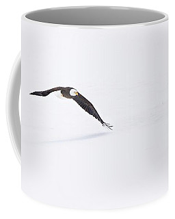 Bald Eagle Fly By Coffee Mug