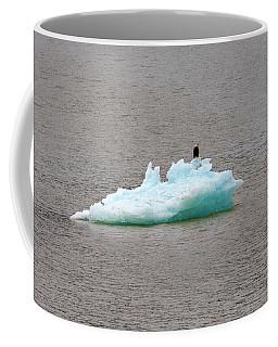 Bald Eagle On Blue Glacial Ice Coffee Mug