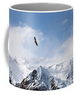 Bald Eagle Over Mountains Coffee Mug