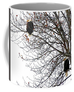 Coffee Mug featuring the photograph Bald Eagle Pair by Will Borden