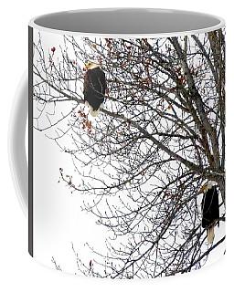 Bald Eagle Pair Coffee Mug by Will Borden