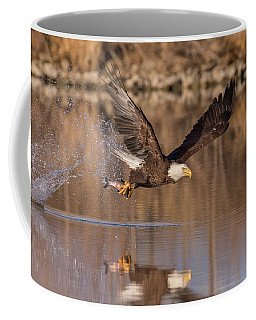 Bald Eagle Snags Breakfast Coffee Mug