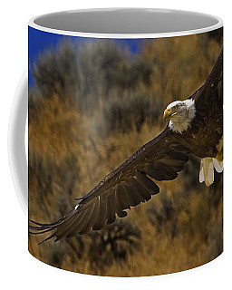 Coffee Mug featuring the photograph Bald Eagle Wing Spread-signed by J L Woody Wooden