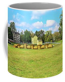 Baled Hay In A Grassy Field Coffee Mug