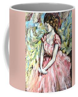Ballerina Angel Coffee Mug by Carrie Joy Byrnes