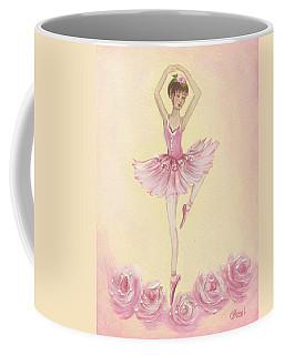 Ballerina Beauty Painting Coffee Mug by Chris Hobel