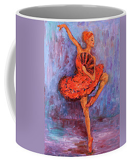 Ballerina Dancing With A Fan Coffee Mug