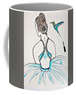 Ballerina  Hummingbird Love Coffee Mug by Jasna Gopic